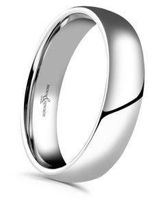Preview image of Platinum 5mm Rounded Light Court Gents Wedding Ring