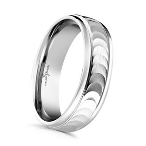 Preview image of Palladium 6mm Machined Finish Eclipse Gents Wedding Ring