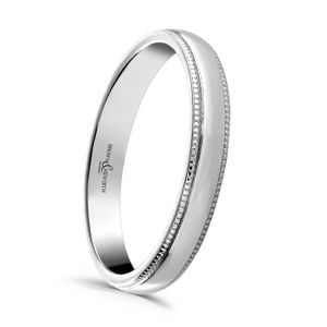 Preview image of 9ct White Gold 2.5mm Beaded Ladies Wedding Ring