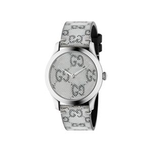 Preview image of Gucci Hologram Grey Dial and Leather Strap Watch