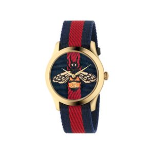Preview image of Gucci Le Marché des Merveilles Red and Blue Bee watch
