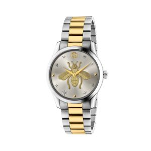 Preview image of Gucci G-Timeless 38mm Bee Steel and Gold Bracelet Watch