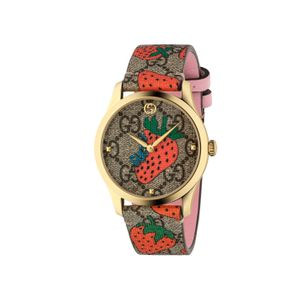 Preview image of Gucci G-Timeless Contemporary Strawberry Strap Watch