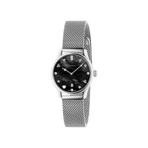 Preview image of Gucci G-Timeless Black Mother of Pearl Bracelet Watch