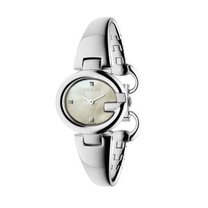 Preview image of Gucci Guccissima Small Diamond Set Bangle Watch