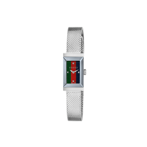 Preview image of Gucci G-Frame green/red/blue Mesh Bracelet Watch