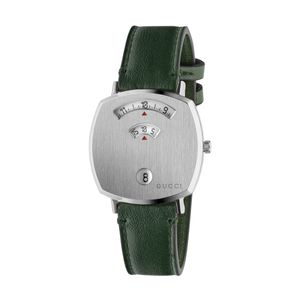Preview image of Gucci Grip 35mm Green Calfskin Strap Watch