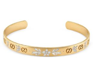 Preview image of Gucci 18ct Yellow Gold Icon Blooms Bangle