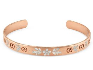 Preview image of Gucci 18ct Rose Gold Icon Blooms Bangle
