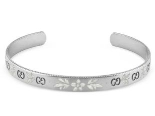 Preview image of Gucci 18ct White Gold Icon Blooms Bangle