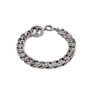 Preview image of Gucci Interlocking G Paisley Sterling Silver Bracelet