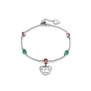 Preview image of Gucci Blind For Love Pink & Green Zirconia Bracelet