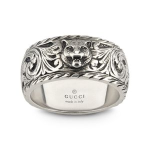 Preview image of Gucci Feline Sterling Silver 10mm Ring