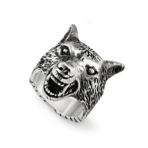 Preview image of Gucci Aged Silver Anger Wolf Ring