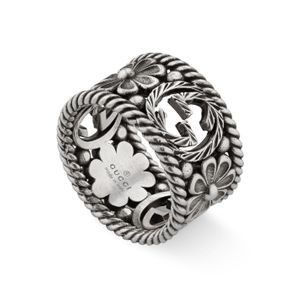 Preview image of Gucci Interlocking G Flower 12mm Ring