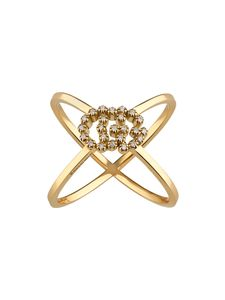 Preview image of Gucci GG Yellow Gold 0.06CT Diamond Coin Ring
