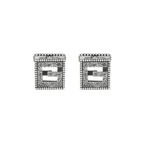Preview image of Gucci Cube Aged Silver Gents Cuff-links