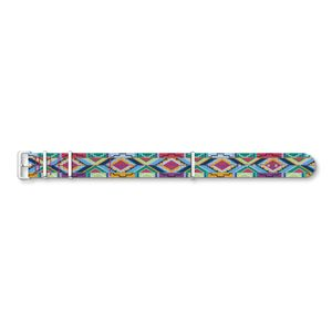 Preview image of Thomas Sabo 20mm Multi-colour Aztec Fabric Strap