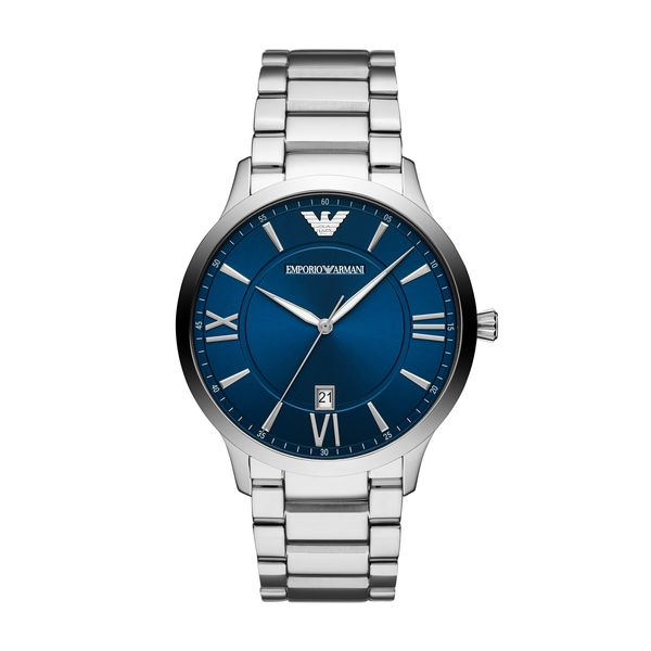 peculiare Gira e rigira Durezza  Emporio Armani Men's Giovanni Blue Face Bracelet Watch | AR11227 ...