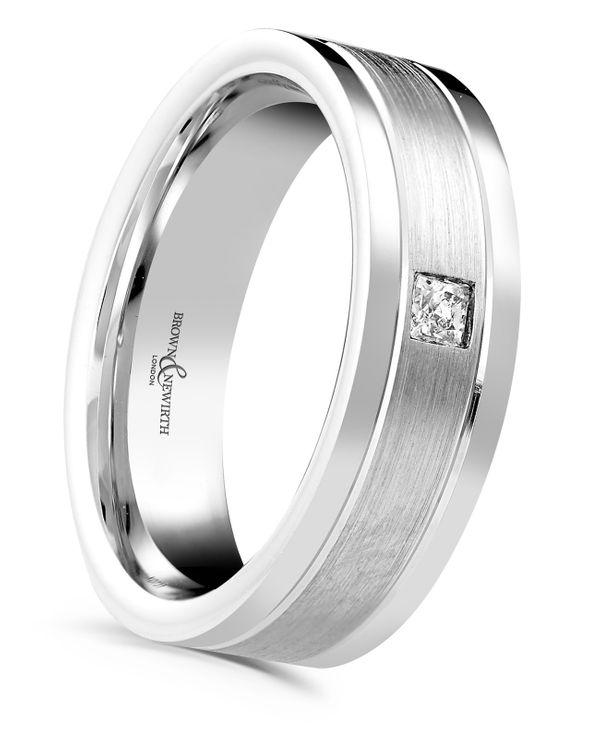 Palladium 6mm Canopus Diamond Gents Wedding Ring Xd731 6