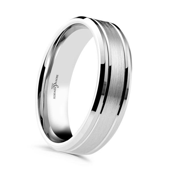 Palladium 6mm Urban V Cut Gents Wedding Ring Xnfp622 6 Pd